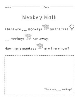 FREE! Monkey Subtraction