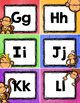 Monkey Theme Alphabet, Number and Color Cards