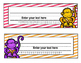 Monkey Theme Editable Name tags (Bright Colors)