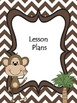 Monkey Theme or Jungle Theme Organizational Binder Divider