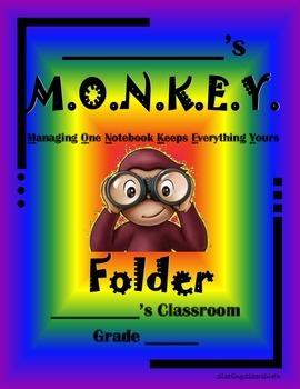 Monkey-Themed Folder
