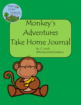 Monkey Themed Journal - Take Home Friend