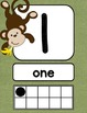 Monkey Themed Number Signs {with counting points}
