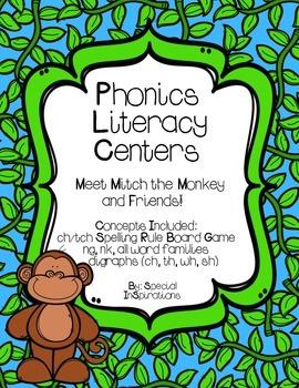 Monkey Themed Phonics Literacy Centers