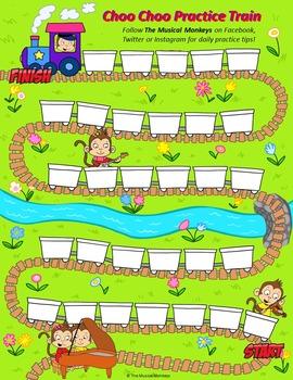 Monkey Train Practice Chart