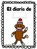 Monkey diary in English and Spanish FREEBIE
