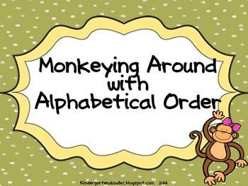 Monkeying Around Alphabetical Order mini lesson