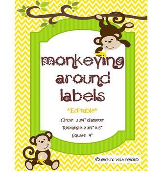 Monkeying Around Labels *editable*