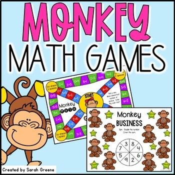 Monkeying Around Math Games {freebie!}