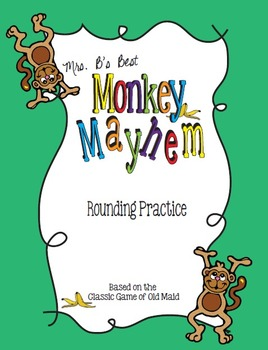 Monkey's Mayhem Card Game: Rounding Practice