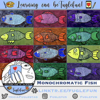Monochromatic Fish with Visual Texture
