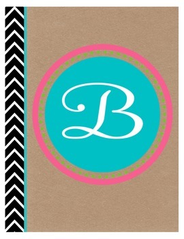 Monogram Binder Cover EDITABLE {FREEBIE}