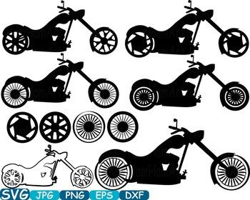 Monogram Motorbike Cutting Files SVG Motorcycle clipart mo