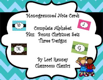 Monogrammed Notecards