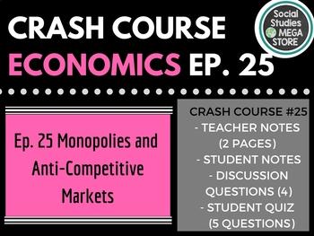 Crash Course Economics Monopolies and Anti-Competitive Mar