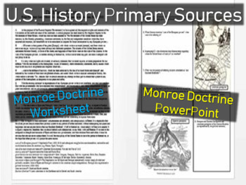 Monroe Doctrine Worksheet & PPT - Approachable, Engaging p