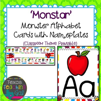 'Monstar' Monster Alphabet Cards with Nameplates
