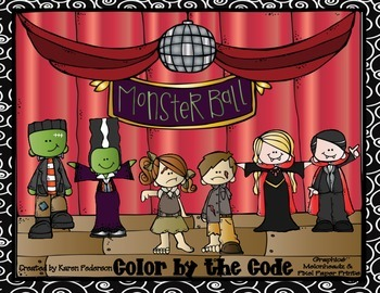 Monster Ball Color by the Code Addition and Subtraction Practice