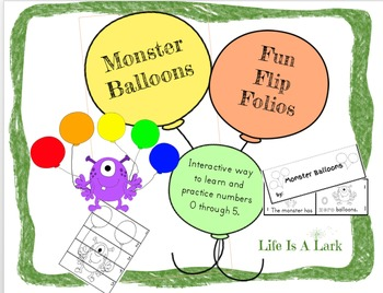 Monster Balloons Fun Flip Books..Drawing, Coloring and Cou