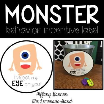 Monster Behavior Incentive FREEBIE