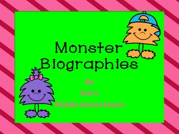 Monster Biographies