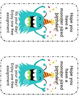 Monster Birthday Cards