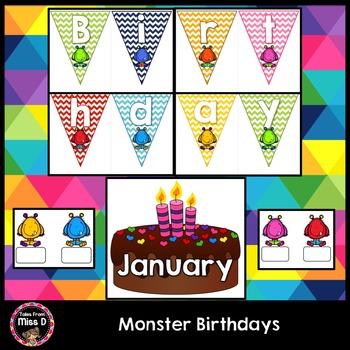 Monster Birthday Chart
