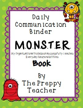 Monster Book Daily Communication Binder