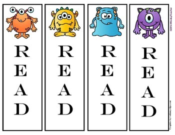 Monster Bookmarks: READ
