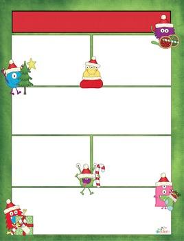 Monster Christmas Newsletter for Word