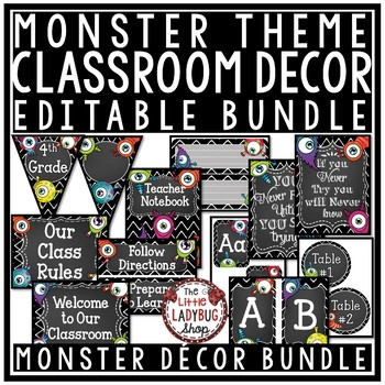 Monster Classroom Decor  • Monster Theme  • Monster Class Decor