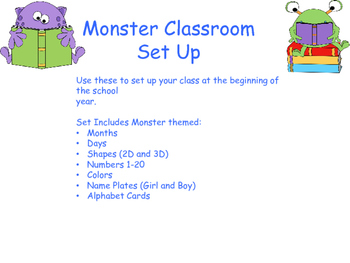 Monster Classroom Set Up Decorations