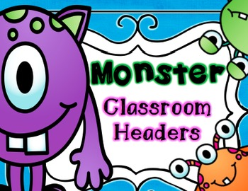 Monster Classroom Signs