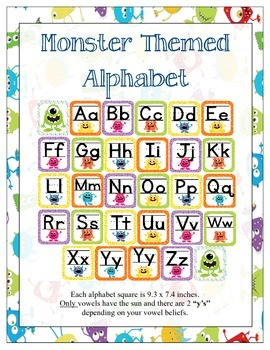 Monster Classroom Theme ABC's