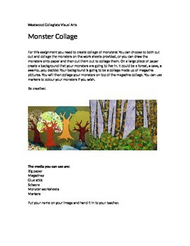 Monster Collage- Special Needs