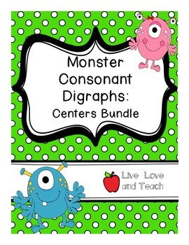 Monster Consonant Digraphs Centers Bundle