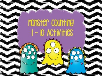 Monster Counting 1-10 Activities