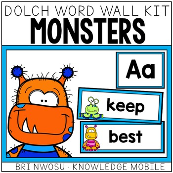 Monster Dolch Word Wall Kit - 220 Cards, Labels, & Banners