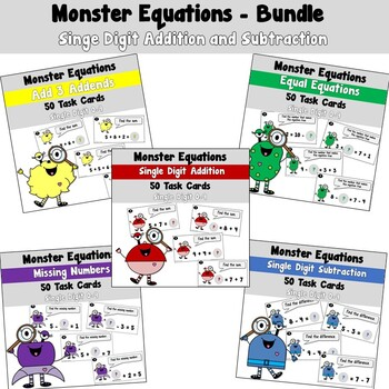 Monster Equations using Addition and Subtraction with Sing