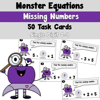 Monster Equations using Missing Numbers with Simple Additi