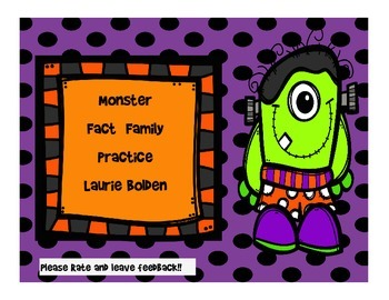 Freebie! Monster Fact Families, Multiplication/Division