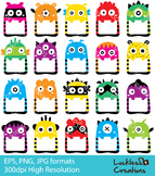 Monster Frames Digital Clip Art (ED)