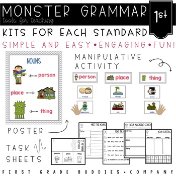 Monster Grammar: First Grade CC Aligned Mini Lessons for t