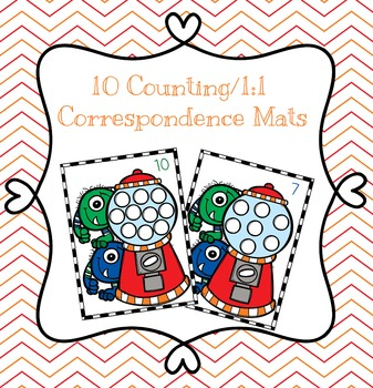 Monster Gumball Machine Counting/One-to-One Correspondence Mats