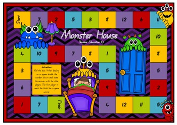 Monster House Doubling Board Game