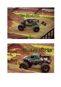 Monster Jam Birthday-  Food Labels