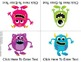 Monster Madness!  Foldable Editable Emergent Reader ~Color