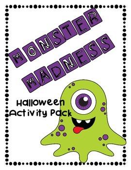 Monster Madness Halloween Activities