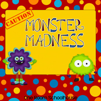 Monster Madness Long Vowel Word Family Games