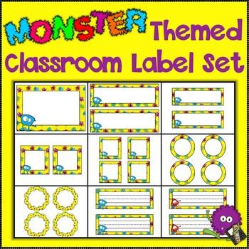 Monster Themed Classroom Label Set {Editable}